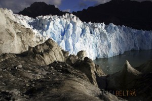 The San Rafael glacier ends its journey in Patagonia, Chile.